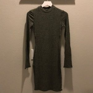 Brand new Heathered Ribknit Long Sleeve Dress
